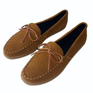 NEW Hush Puppies Leather Moccasin Slip-Ons